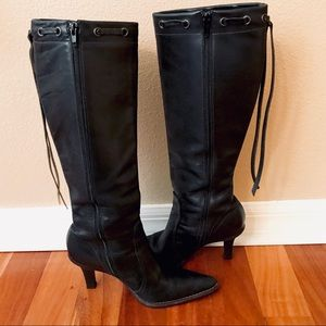 Coach Bella high heeled boots in black